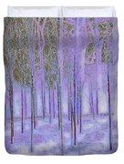 Silver Birch Magical Abstract  Duvet Cover