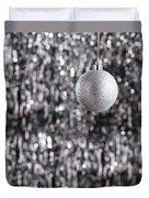 Silver Christmas Duvet Cover