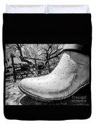 Silver Cowboy Boot Duvet Cover