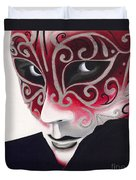 Silver Flair Mask Duvet Cover