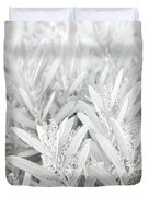 Silver Foliage Duvet Cover