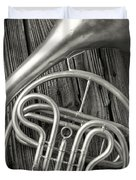 Silver French Horn Duvet Cover