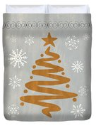 Silver Gold Tree Duvet Cover