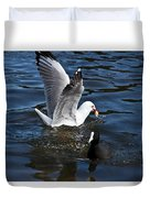 Silver Gull And Australian Coot Duvet Cover