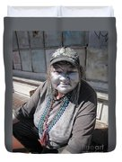 Silver Lady Duvet Cover