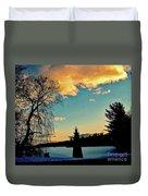 Silver Lake Sundown Duvet Cover