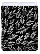 Silver Leaf Pattern 2 Duvet Cover
