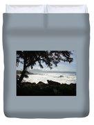 Hawaiian Silver Ocean Duvet Cover