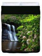 Silver Run Falls Mountain Laurel Duvet Cover