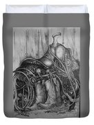 Silver Sands- Saddle And Boots Duvet Cover