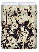 Silver Skull Art Duvet Cover