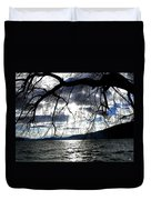 Silver Sunset Duvet Cover