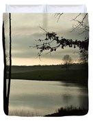 Silver Winter Lake Duvet Cover