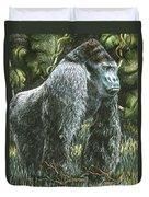 Silverback-king Of The Mountain Mist Duvet Cover