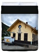 Silverton Train Depot Duvet Cover