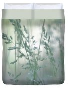 Silvery Green Grasses Duvet Cover