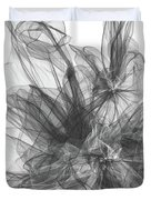 Simple Black And White Abstract Duvet Cover