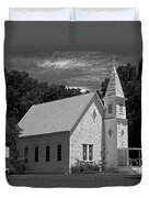 Simple Country Church - Bw Duvet Cover