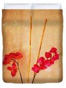 Simple Floral Arrangement  Duvet Cover