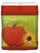 Simple Lone Pumpkin Duvet Cover
