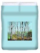 Simply Birches Duvet Cover