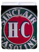 Sinclair Gasoline Porcelain Sign Duvet Cover