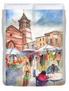 Sineu Market In Majorca 01 Duvet Cover