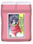 Sing And Dance Santa Duvet Cover