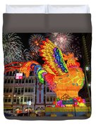Singapore Chinatown 2017 Lunar New Year Fireworks Duvet Cover