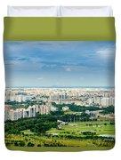 Singapore Cityscape Duvet Cover