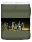 Singapore Evening Cascade Duvet Cover