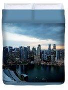 Singapore Skyline Duvet Cover