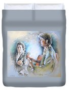 Singer And Guitarist Flamenco Duvet Cover
