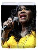 Singer Shirley Alston Reeves  Duvet Cover