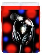 Singer Stage Microphone Duvet Cover