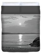 Singing Beach Rocky Sunrise Manchester By The Sea Ma Sand Black And White Duvet Cover