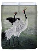 Singing Cranes Duvet Cover