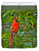 Singing His Song Duvet Cover