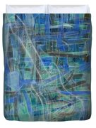Singing The Blues Duvet Cover