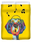 Singing The Blues - Dog Humor Duvet Cover
