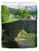 Single Arch Stone Bridge - P4a16018 Duvet Cover