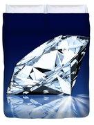 Single Blue Diamond Duvet Cover
