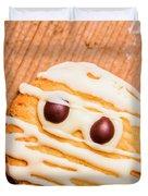 Single Homemade Mummy Cookie For Halloween Duvet Cover