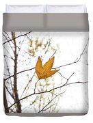 Single Leaf In Fall Duvet Cover
