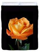 Single Orange Rose Duvet Cover