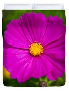 Single Purple Cosmos Flower Duvet Cover