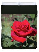 Single Red Rose  Duvet Cover