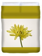 Single Yellow Daisy Duvet Cover