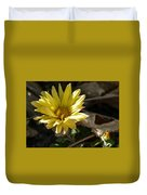 Single Yellow Mum Duvet Cover