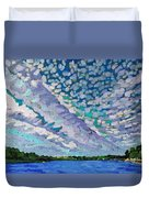 Singleton Altocumulus Morning Duvet Cover